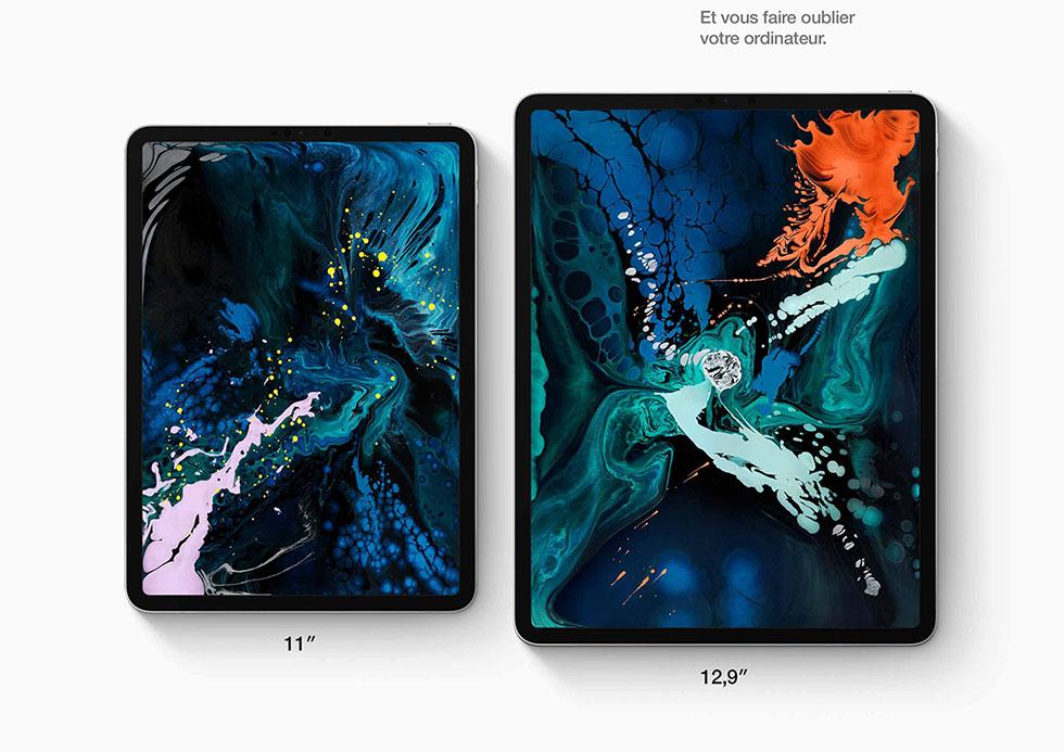 Nouvel iPad Pro 11 pouces ou 12,9 pouces